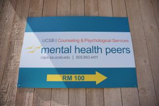 Photo of Mental Health Peers Sign.