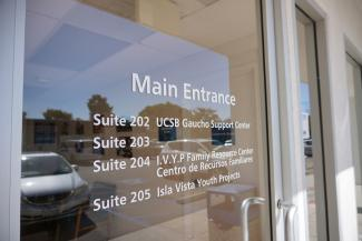 Photo of IV GSC front door - Suite 202 UCSB GSC