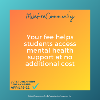 Your fee helps students access mental health support at no additional cost