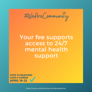 Your fee supports access to 24/7 mental health support